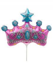 Mini foil balloon Princess Crown