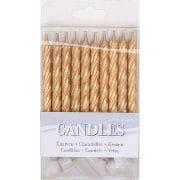 Mini Candles Gold 16 Pcs.