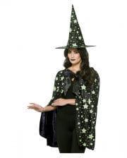 Mitternachts Hexe Umhang mit Hut