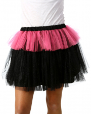 MonStar Glitter Tulle Skirt Black-pink