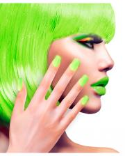 Neon Airbrush Fingernägel Neon Grün