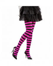 Striped Neon Tights Pink