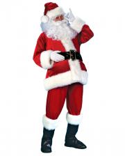 Samt Weihnachtsmann Kostüm DLX