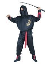 Ninja Kostüm schwarz