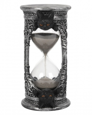 Occult Hourglass With Black Cat 17cm