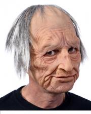 Opa Maske mit Haaren