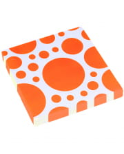 Orange Dots napkins 20 pcs.
