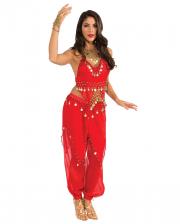 Orientalisches Bauchtanz Kostüm in Rot mit Münzen