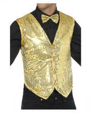 Sequined Vest For Men Gold