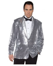 Sequin jacket silver