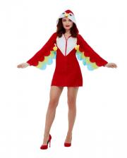 Papageien Kostümkleid mit Kapuze für Erwachsene