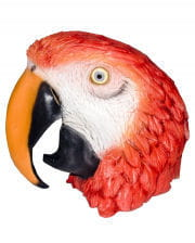 Papagei Latex Maske