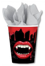 Paper cup with vampire motif 8 St.