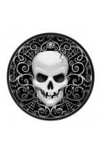 Paper plate with skull motif 8 pcs.