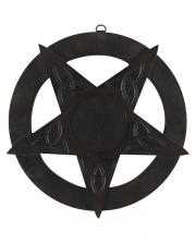 Pentagramm Wandbild aus Holz 30,5cm