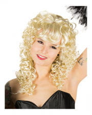 Long-haired wig with curls blond