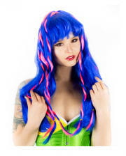 Cyber ​​Gothic wig blue / pink
