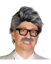 Perücke Horst mit Schnauzer