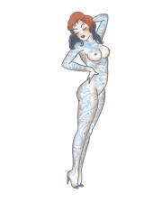 Pin Up Glue Tattoo Naked Girl