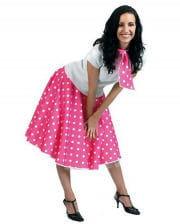 Rock n Roll Skirt Pink  sc 1 st  Horror-Shop.com & 50s rocku0027nu0027roll blouse white Costume Accessories | horror-shop.com