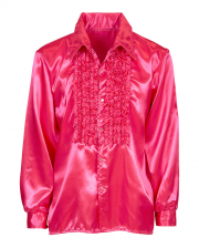 70er Jahre Disco Fashion Shirt Pink