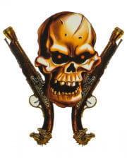 Piraten Klebetattoo mit Pistolen