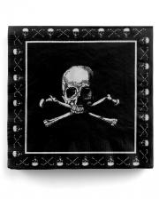 Pirate Skull Napkins 20 Pcs