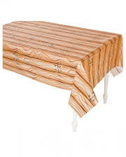 Pirate ship tablecloth wood look