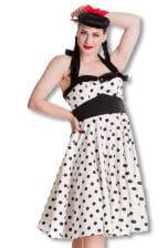 Polka Dot Neckholder Kleid XXL