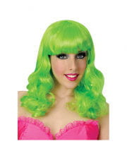 Popstar Perücke Neongrün
