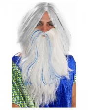 Poseidon Beard White-blue