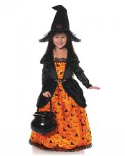 Pumpkin Witch With Hat Children Costume