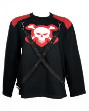 Skull Sweatshirt With Ribbons
