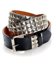 Punk Studded Belt Black