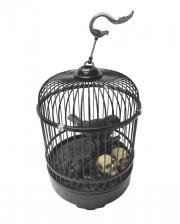 Raven In Cage Halloween Animatronic