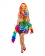 Rainbow Sequins Glitter Dress