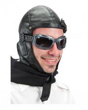 Retro Fliegermütze schwarz