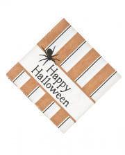 Retro Halloween Servietten mit Spinne 16 St.