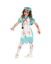 Retro Zombie Nurse Costume For Children