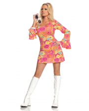 Geblümtes Hippie Minikleid Kostüm