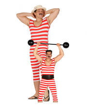 Retro Striped Swimsuit For Men