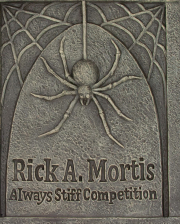 Rick A. Mortis Gravestone With Spider 70cm