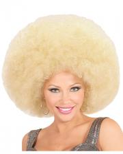 Huge Afro Wig Blond