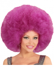 Giant Afro Wig Purple