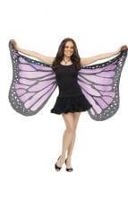 Huge purple butterfly wings
