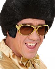 Rock 'n' Roll Kostüm Brille mit Koteletten