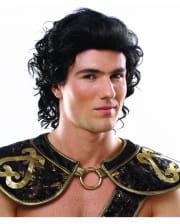 Römischer Krieger Perücke schwarz