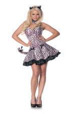 Rosa Leoparden Kleid XL