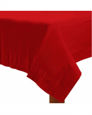 Red Paper Tablecloth 1,37 X 2,74 M