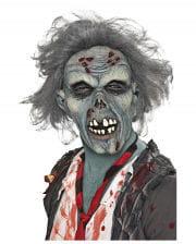 Verrottete Zombie Maske mit Haaren